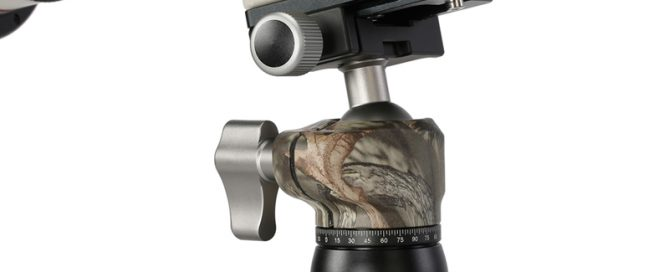Mini trípode MT-01 con LH-25 Camo de Leofoto para cámaras DSLR y CSC