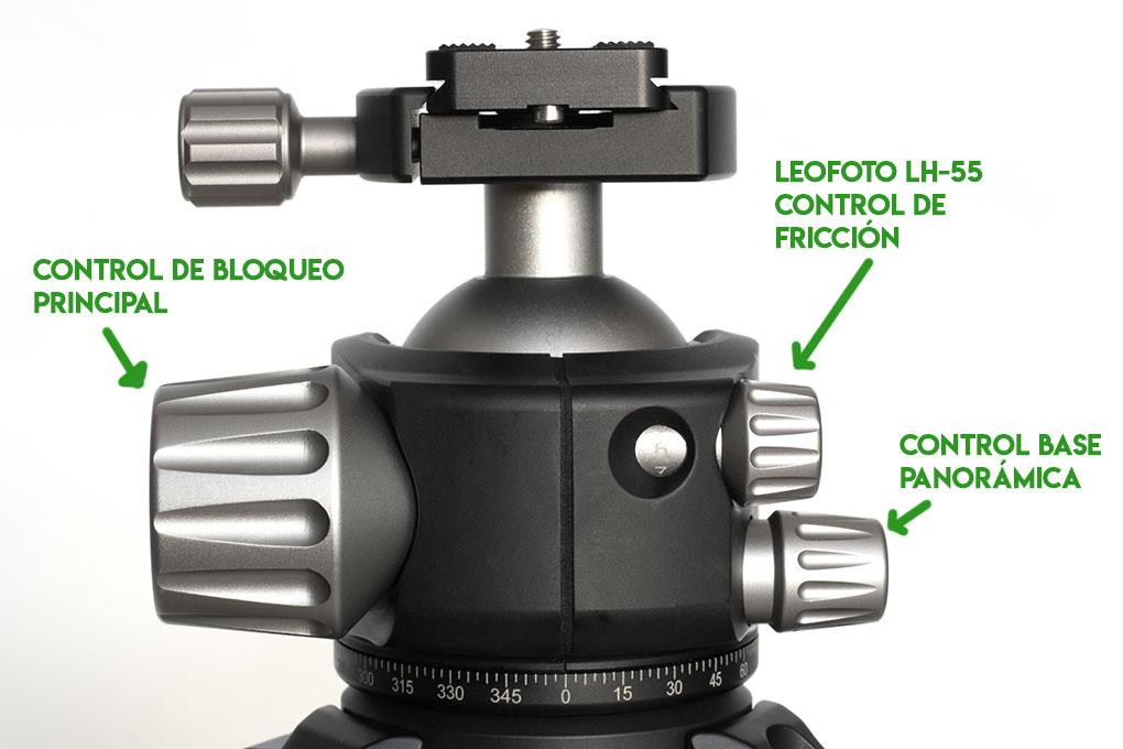 Control de fricción rótula Leofoto LH-55