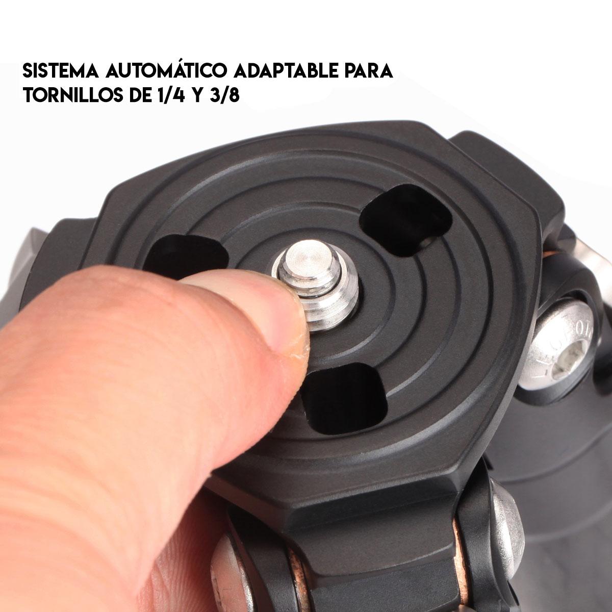 Trípode LS-223C en carbono Toray 10x para tornillos adaptable