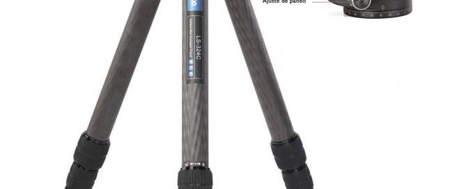 Tripode Leofoto LS-324C en carbono 10x hasta 1300mm de altura