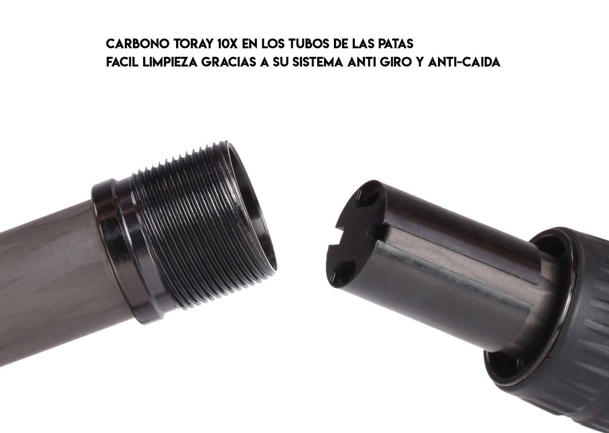 Serie de trípodes Carbono Leofoto LS y limpieza de secciones