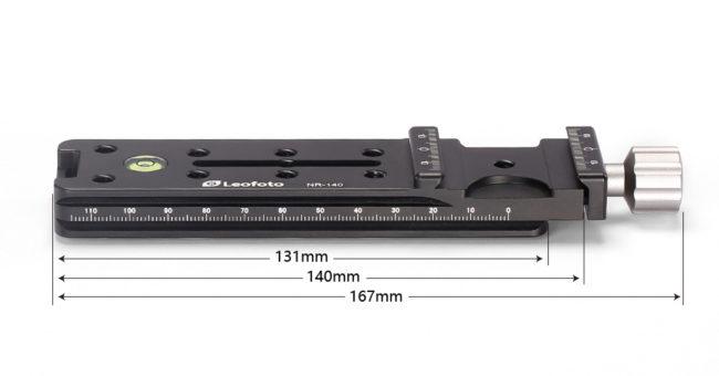Plato rail nodal Leofoto NR-140 para fotografía panorámica