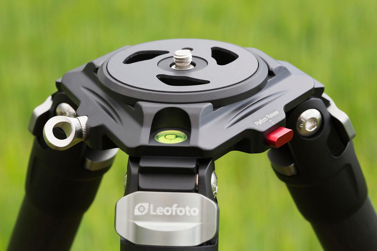 Leofoto LN-364C trípode profesional de carbono con plato video
