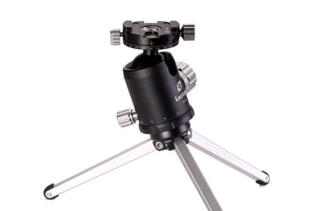 Rótula de bola CB-34 con rotador de Leofoto en aluminio