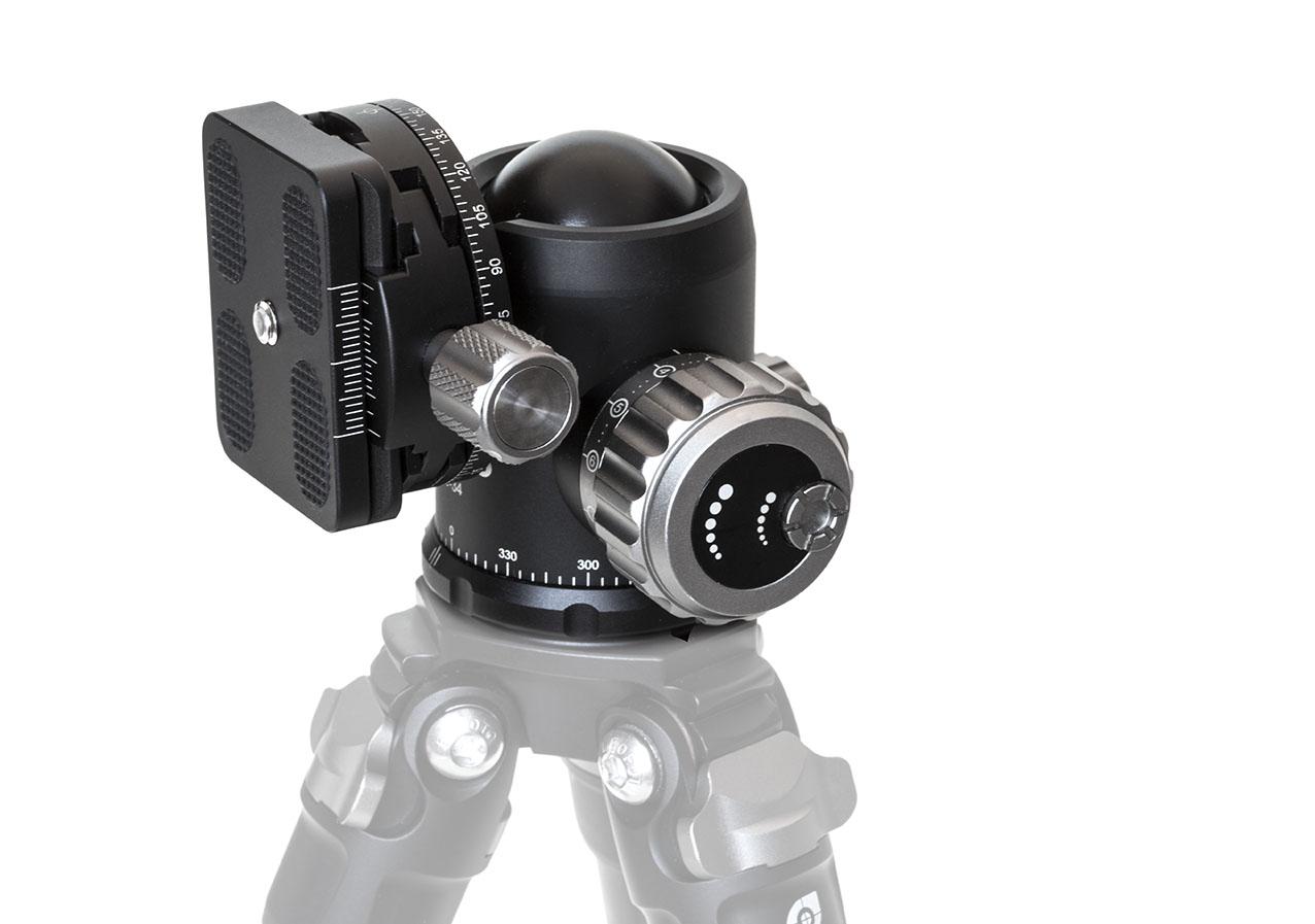Rótula de bola CB-40 con rotador en aluminio CNC de Leofoto