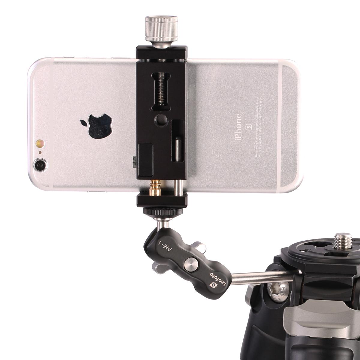 Brazo articulado Leofoto AM-1 de Leofoto con smartphone
