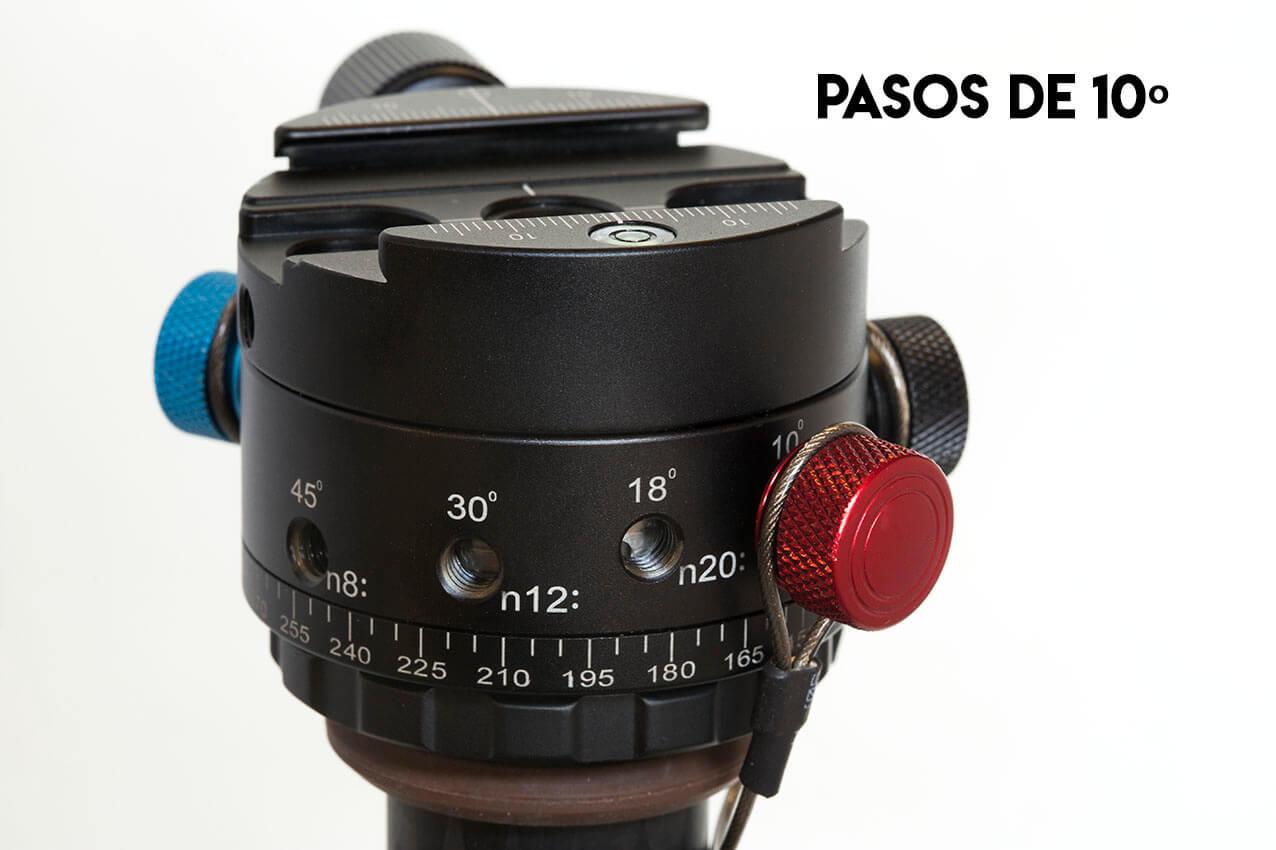 Rotador 360º Leofoto DH-60C para fotos panorámicas