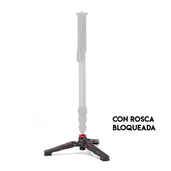 Base monopie Leofoto VD-02 con rosca para mejor estabilidad