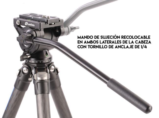 Cabeza fluida Leofoto BV-10 con mango de sujeción