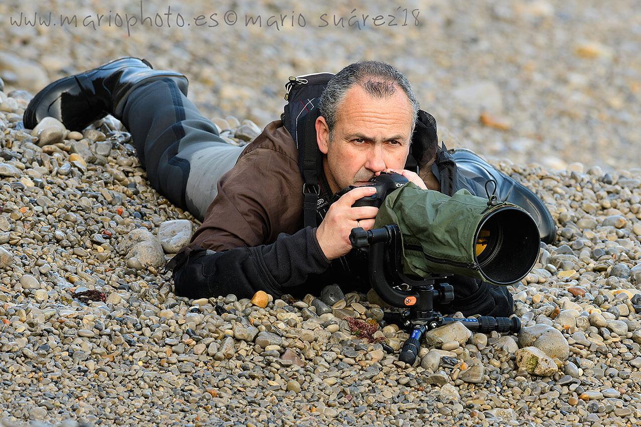 El fotógrafo Mario Suárez Porras con LS-223C de Leofoto