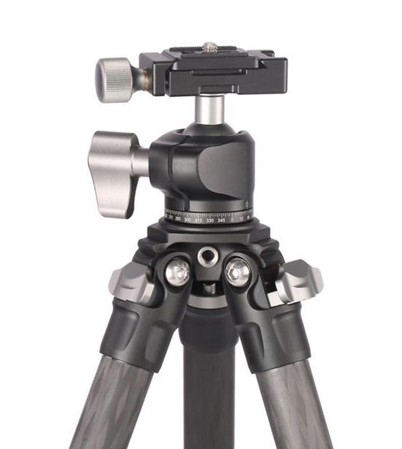 Kit trípode LS-224C+LH25 de Leofoto