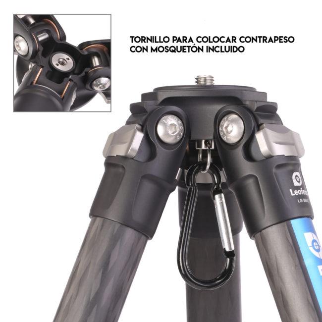 Kit trípode LS-254C+LH30 con contrapeso