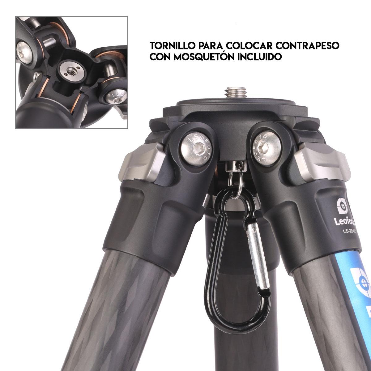 Kit trípode LS-284C+LH30 con contrapeso