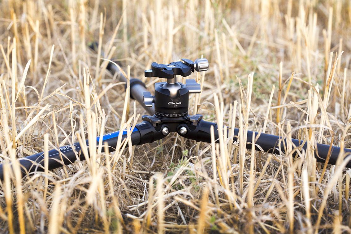 Review trípode Leofoto LS-254C y rótula LH-30 a ras de suelo