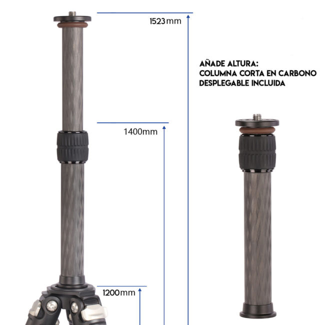 Trípode LS-254C+LH30 con columna central