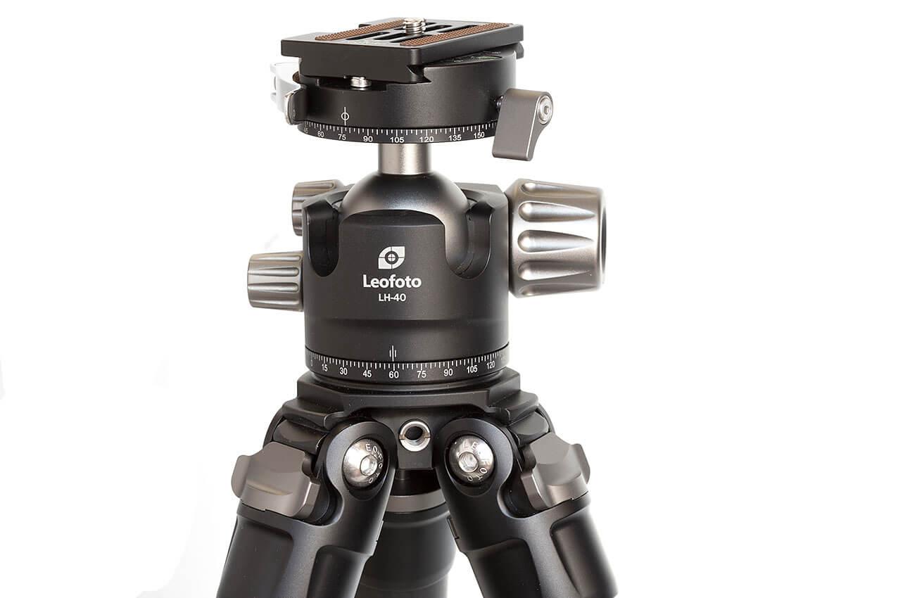 Kit Leofoto LS-324C + LH-40PCL con acceso para brazo articulado