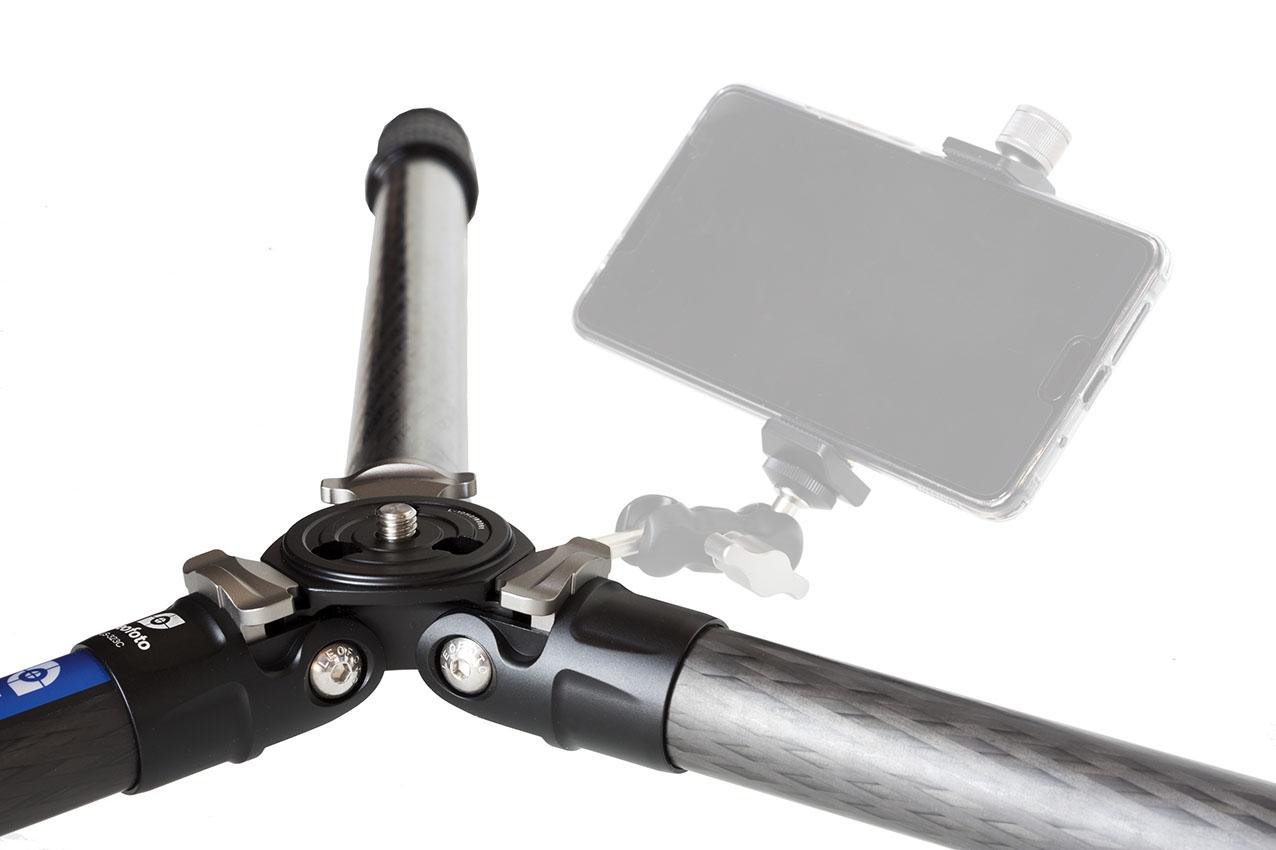 Leofoto LS-323C en carbono con acceso lateral