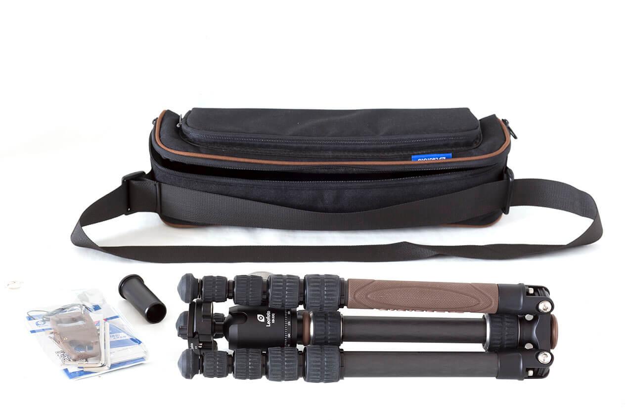 Kit Leofoto Urban LX-225CT+XB32Q trípode y rotula con bolsa de transporte
