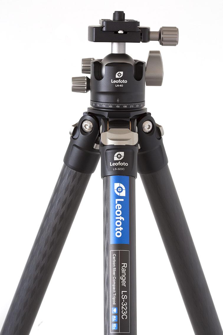 Leofoto LS-323C+LH-40 kit de trípode con rótula de bola