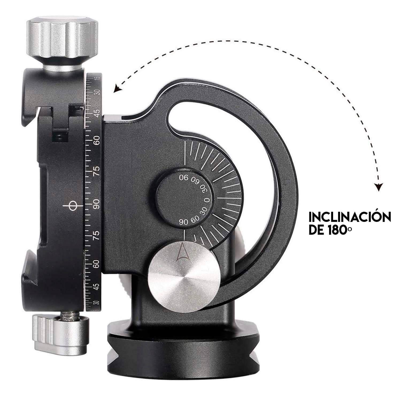 Leofoto VH-10 rótula para monopie con inclinación y rotador panorámico