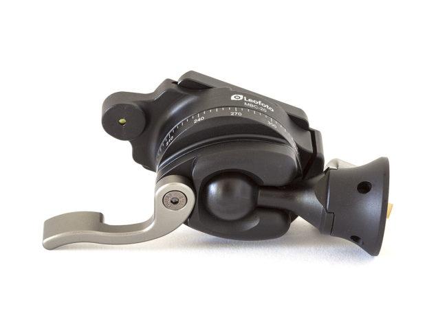 Leofoto MBC-20 mini rotula con rotador vista inferior