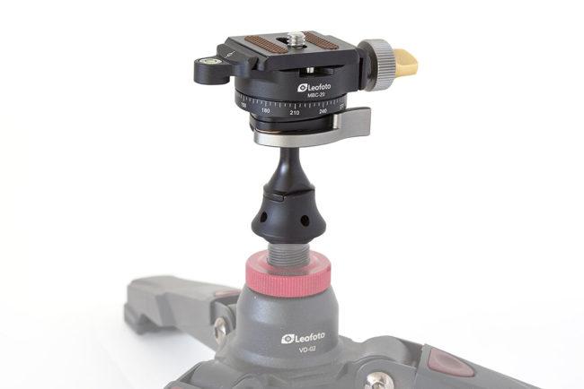 Leofoto MBC-20 mini rotula hecha con maquinaria CNC