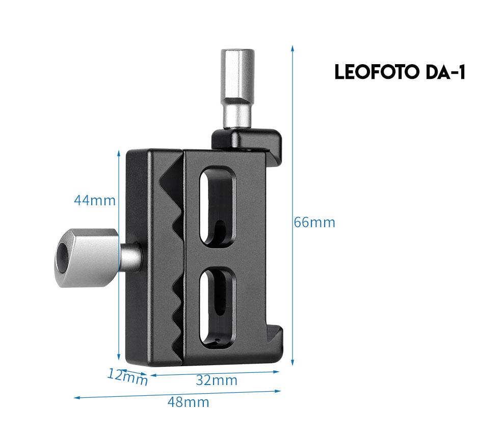 Leofoto DA-1 zapata Arca Swiss dimensiones