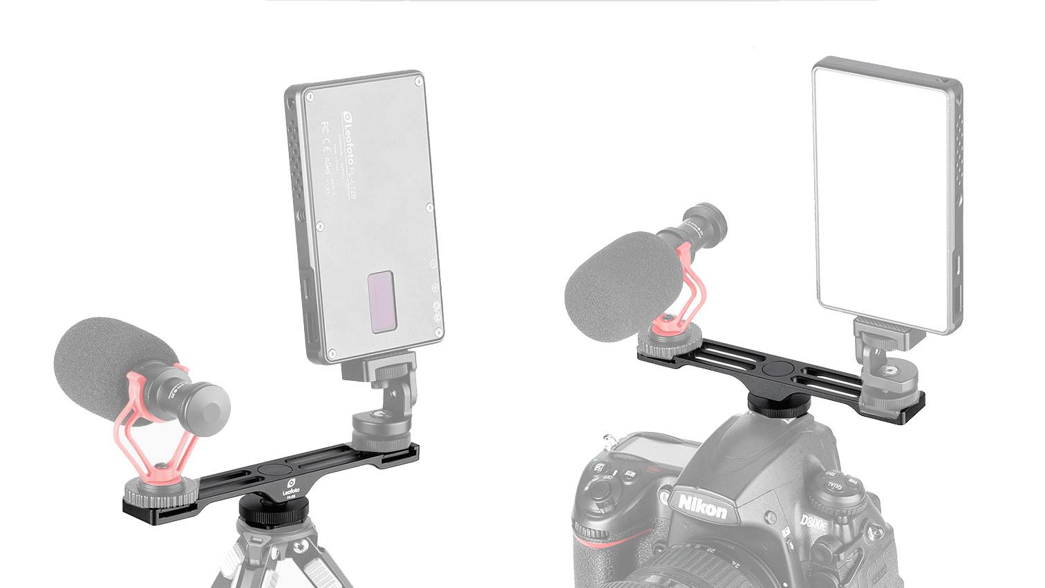 Leofoto FA-08 para colocar hasta dos accesorios en la zapata de la cámara