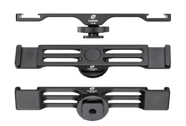 Leofoto FA-08 zapata para cámara para dos accesorios