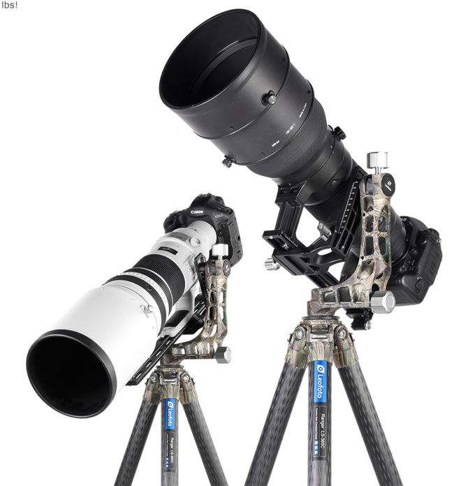 Leofoto LS-365C+PG-1 Camuflaje para uso con teleobjetivos