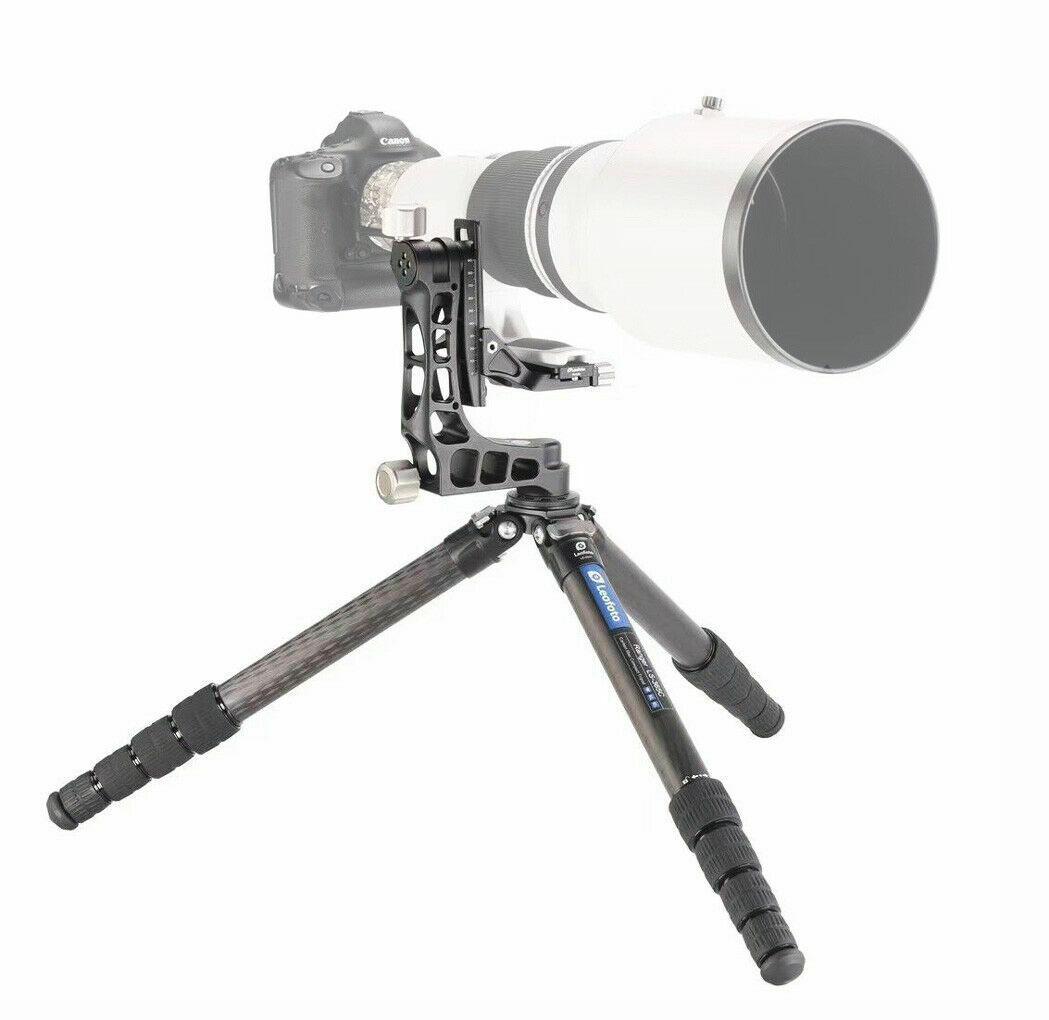 Leofoto LS-365C+PG-1 con rótula gimbal para teleobjetivos