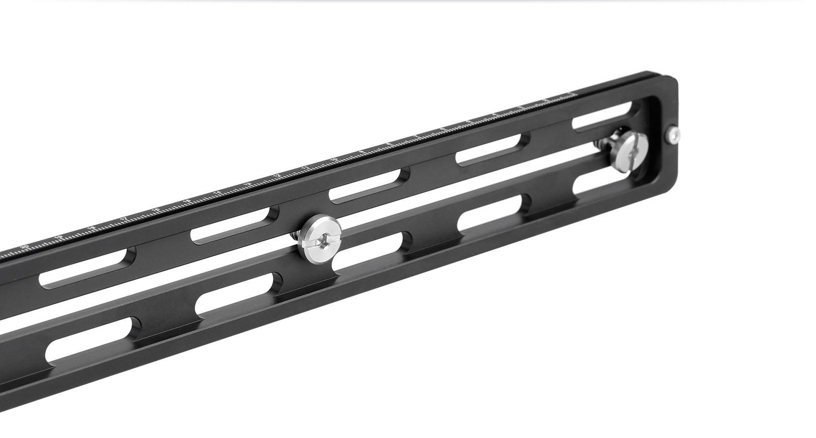 Leofoto VR-250 regleta aligerada en aluminio para teleobjetivos