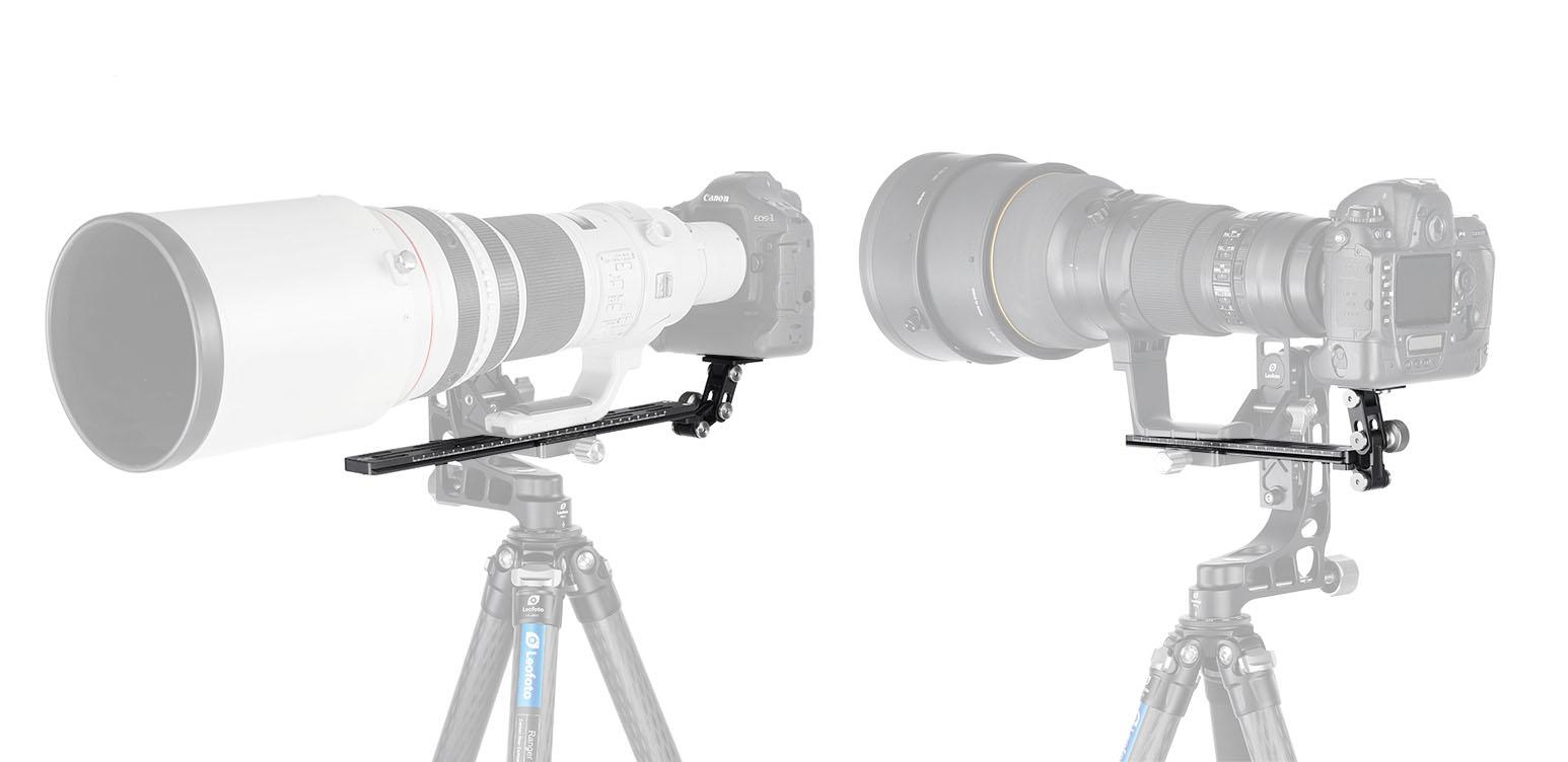 Leofoto VR-250 regleta para soporte de cámara y objetivos