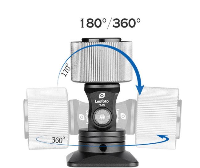 Leofoto FA-09 rótula para flashes con inclinación y giro 360