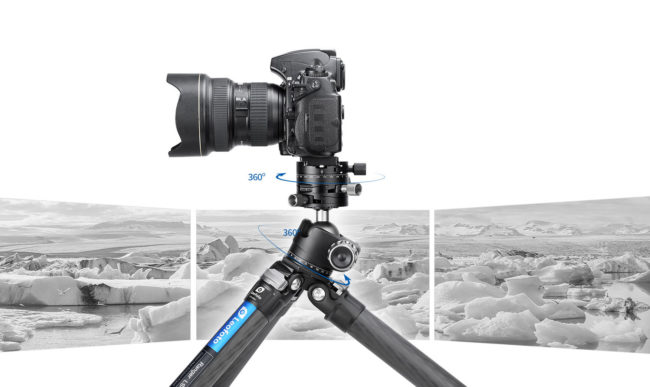 Leofoto LH-40GR+NP-60 rótula de bola de cremallera para fotografía panorámica milimetrica