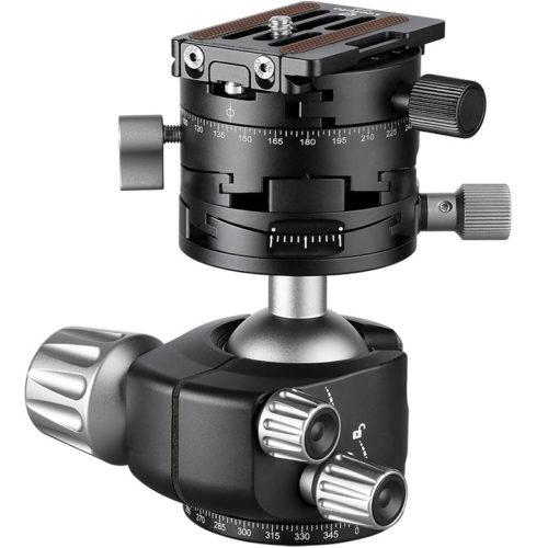 Leofoto LH-40GR+NP-60 rótula de bola de cremallera milimetrica para paisajes