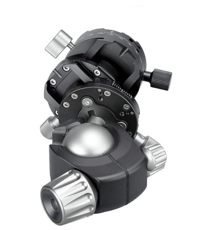 Leofoto LH-40GR+NP-60 rótula de bola de cremallera soporta hasta 20 kg