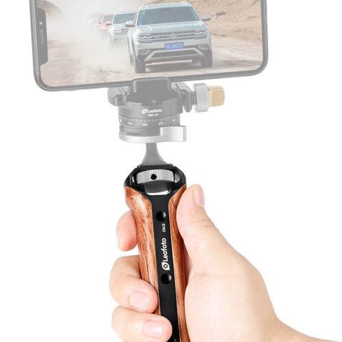 Leofoto CH-2 empuñadura para selfies y grabación de video