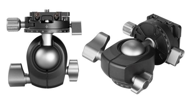 Leofoto LH-30R+NP-50 rotula con rotador superior de 360 grados bloqueable