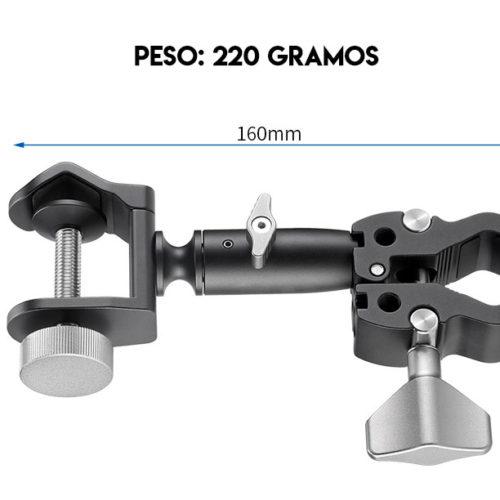 Leofoto UC-01 - Brazo cde sujeción y dimensiones