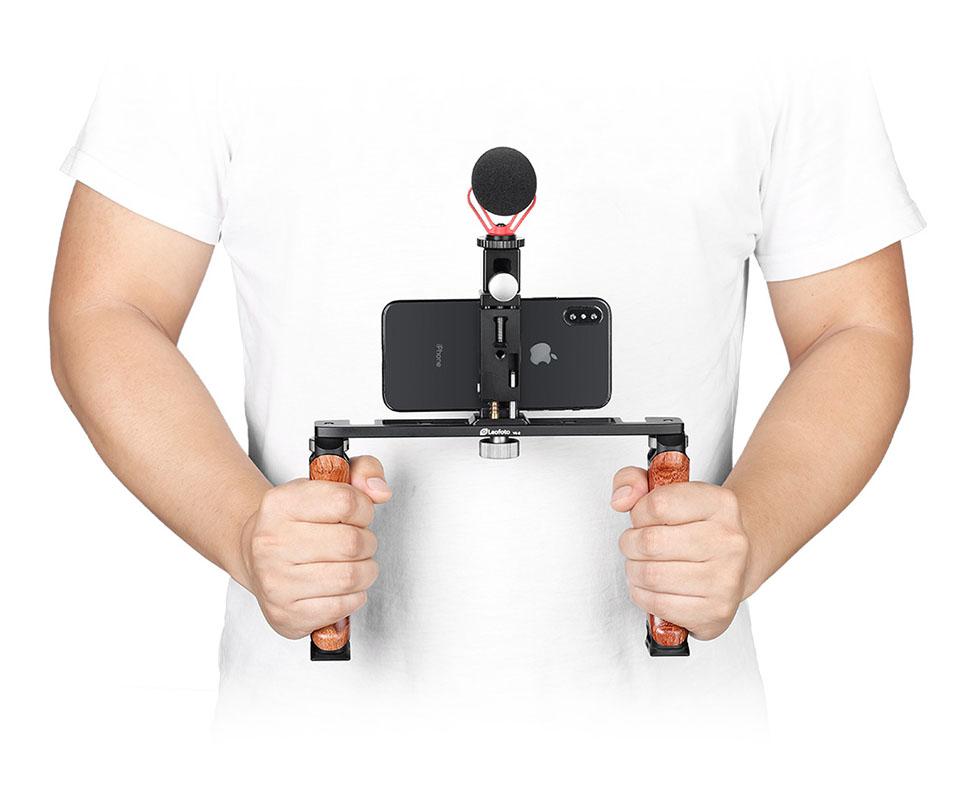 Leofoto VC-2 doble empuñadura para filmacion con el smartphone