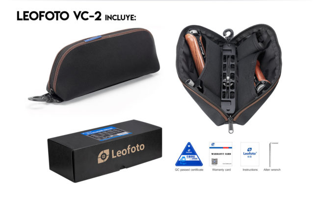 Leofoto VC-2 doble empuñadura y accesorios incluidos