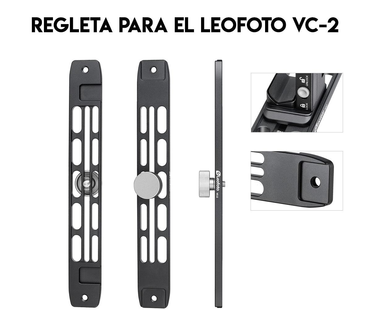 Leofoto VC-2 doble empuñadura y regleta dedicada para grabacion con smartphone