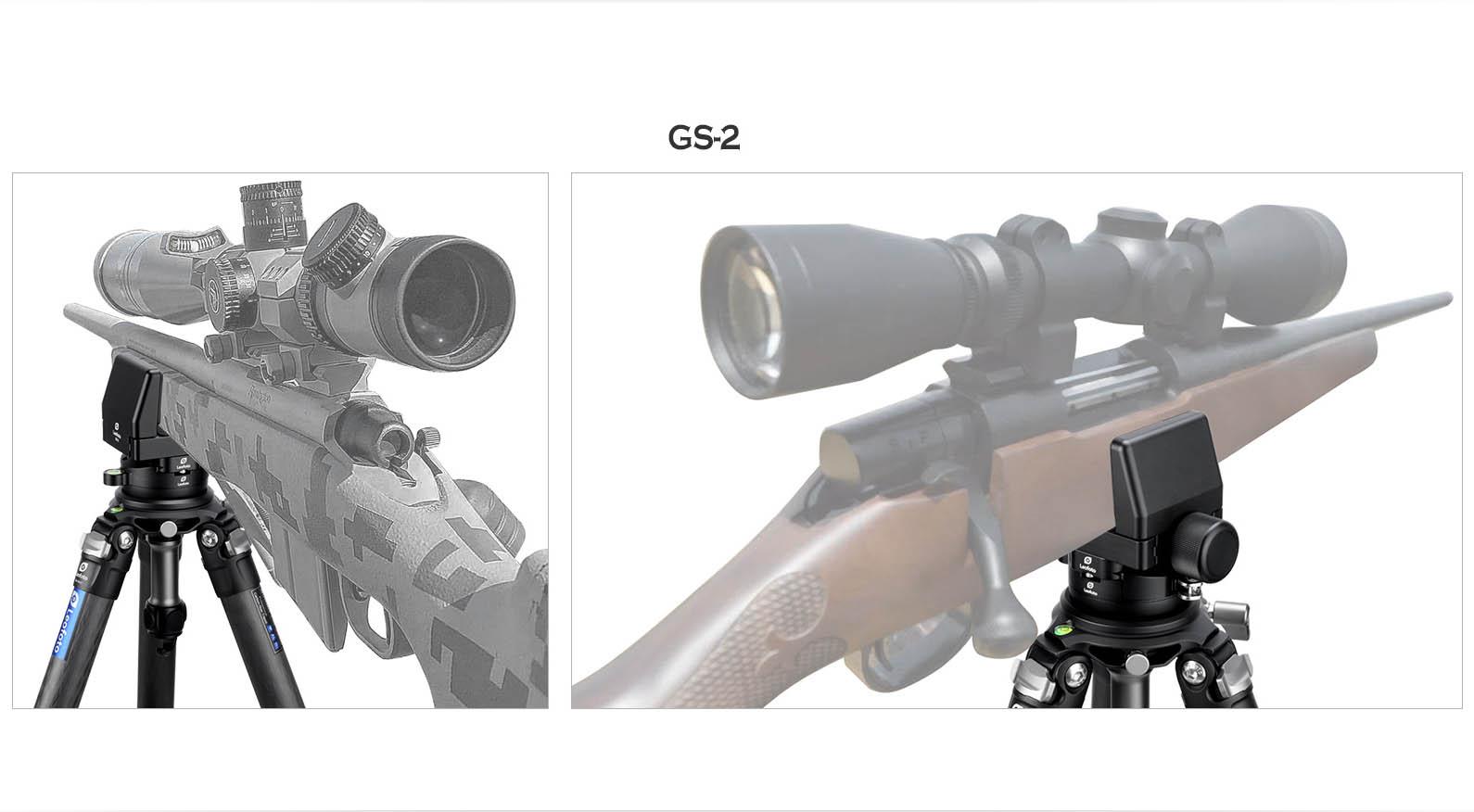 Leofoto GS-2 pinza en aluminio para rifles con apertura variable