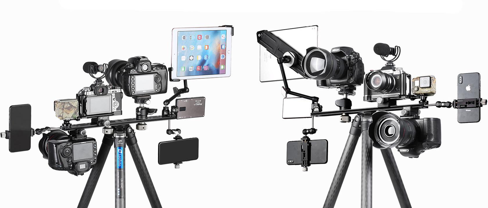 Leofoto NP-400 rail en aluminio aeronautico para suujetar multiples accesorios de fotografía y video
