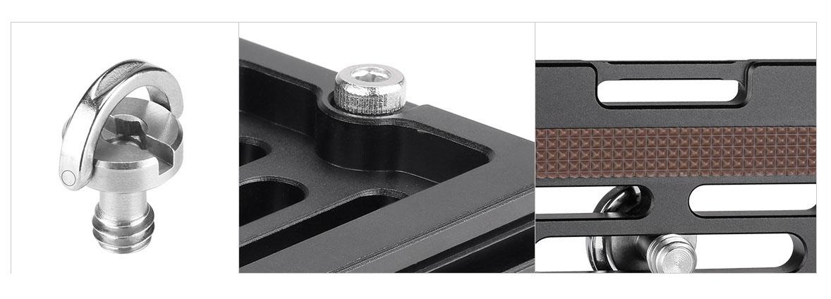 Plato rápido Leofoto NP-50 con detalles y compatible Arca Swiss