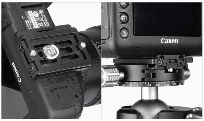 Plato rápido Leofoto NP-50 para cámaras fotográficas