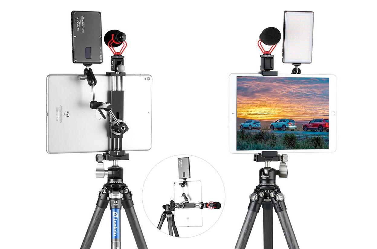 Leofoto PC-230 pinza para tablet y smartphone con multiples conexiones