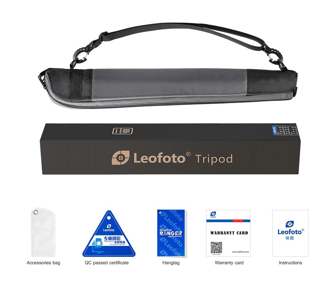 Monopie de carbono Leofoto MP-364C con bolsa y accesorios