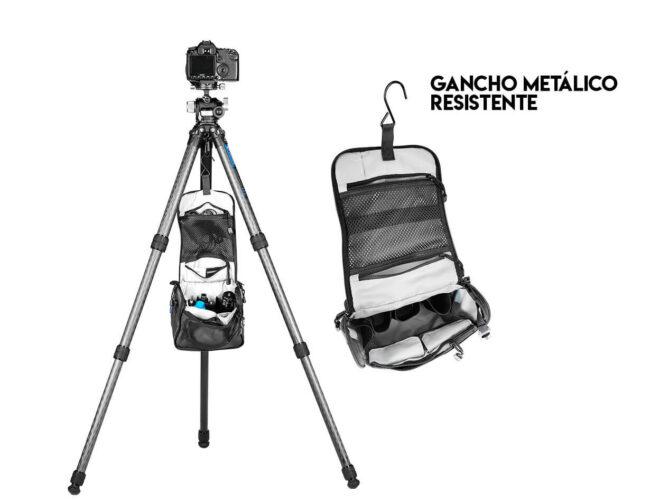 Bolso para trípode Leofoto AC-2 y gancho metálico